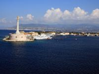 Cruising the Strait of Messina, Italy