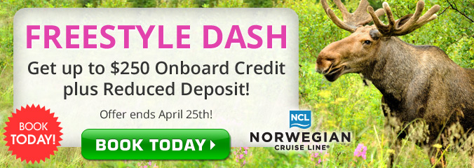 NCL Dash Sale! Up to $250 in Onboard Credit