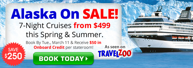 $499 - 7 Night Alaska Cruise with $50 Credit