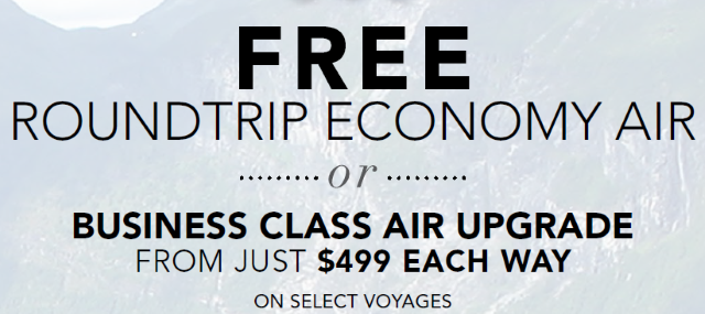 FREE Roundtrip Economy Air or Business Class Air Upgrade for $499