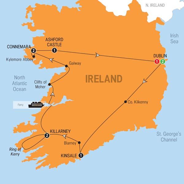 10 Day Iconic Ireland and Ashford Castle on Trafalgar Tours from