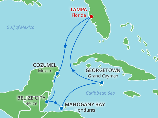 9 Day Exotic Western Caribbean Cruise Tampa Stay On Wmph
