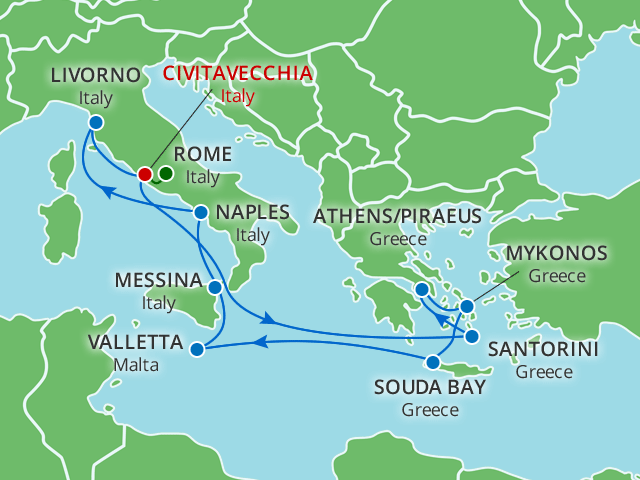 13 Day Greek Isles Italy Rome Stay On Wmph Value Collection