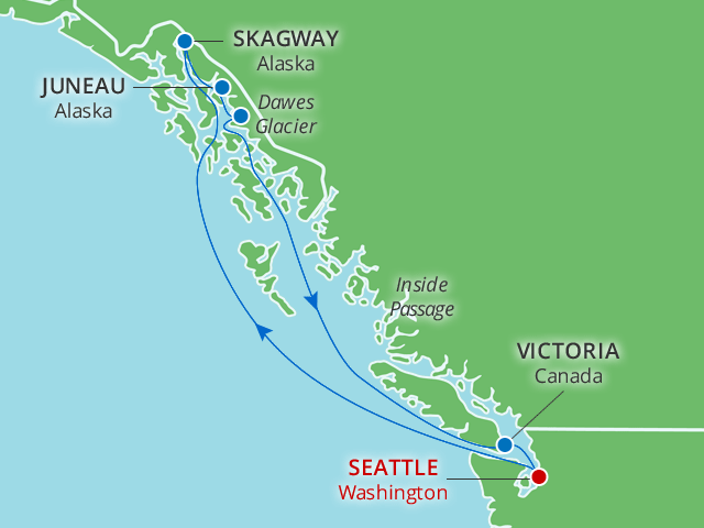 9 Day Alaska Glacier Cruise with Seattle Overnight on WMPH Value ...