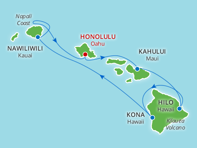 9 day hawaiian islands cruise plus honolulu on wmph value. Black Bedroom Furniture Sets. Home Design Ideas