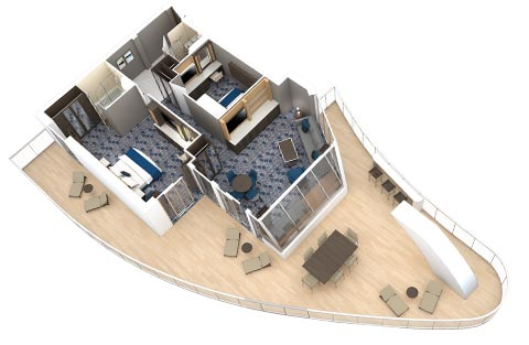 Symphony Of The Seas Cabin 10334 Category A2 Aquatheater Suite With Large Balcony 2 Bedrooms 10334 On Icruise Com