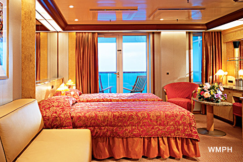 Carnival Legend Cabin 5243 Category 9a Premium Balcony Stateroom Obstructed View 5243 On