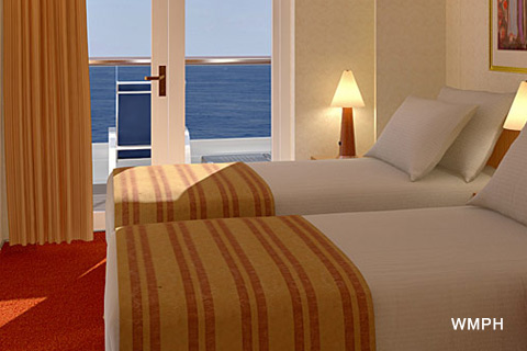 Carnival Miracle Cabin 7300 Category 8n Aft View