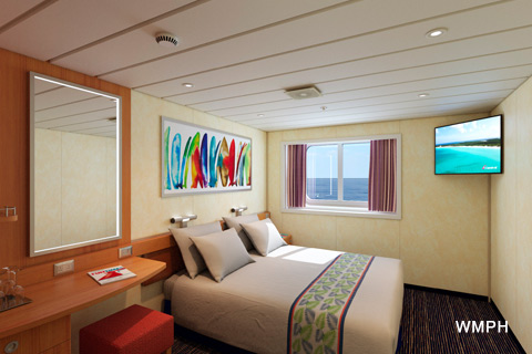 Carnival Elation Cabin R Category B Ocean View Stateroom - Elation cruise ship rooms
