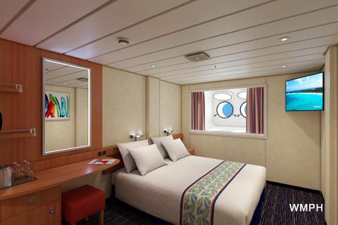 Carnival Elation Cabin R Category PT Interior Porthole - Elation cruise ship rooms