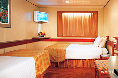 Carnival inspiration cabin m298 category 4c interior stateroom m298 on for Carnival sensation interior rooms