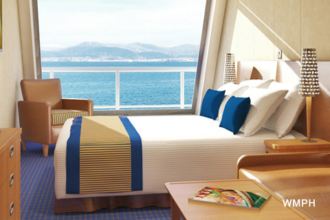 Carnival Freedom Cabin 9198 Category 6j Scenic Ocean View Stateroom 9198 On Icruise Com