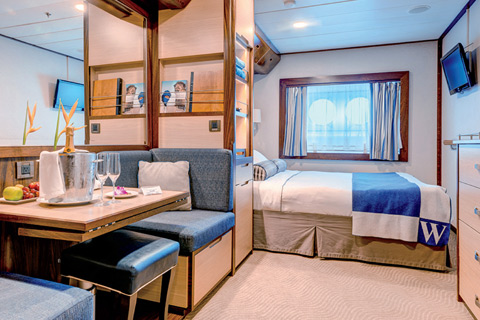 Wind Spirit Cabin Category AX Deluxe Oceanview Stateroom - Wind spirit