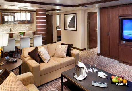 Celebrity Eclipse Royal Suite room view - YouTube