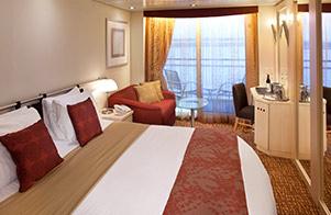 Deluxe ocean view stateroom with verandah celebrity
