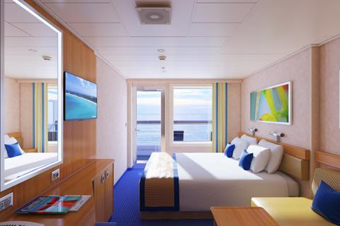 Carnival sunshine cabin 9214 category 8e balcony for Miracle magic bathroom