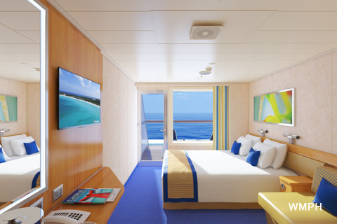 carnival cruise liberty balcony room Carnival Sunshine Cabin 7329 Category 8M Aft View