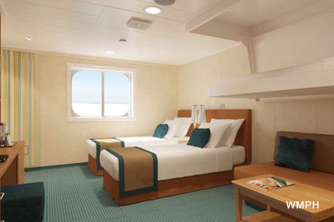 Carnival Vista Cabin 10201 Category 4J Interior Stateroom with