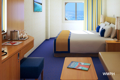 Carnival Horizon Cabin 1485 Category 6a Ocean View Stateroom 1485 On Icruise Com