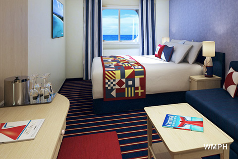 Carnival Horizon Cabin 2418 Category Fj Family Harbor Deluxe Ocean View Stateroom 2418 On Icruise Com