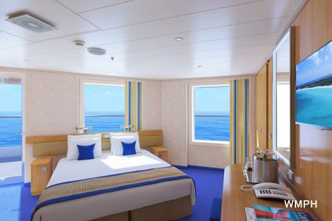 carnival balcony rooms Carnival Sunrise Cabin 6461 Category 9C Premium Vista