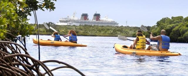 Disney Cruises Castaway Kayaking