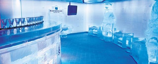 Norwegian Cruise Line Ice Bar