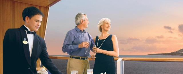 Princess Cruises Couple Railing