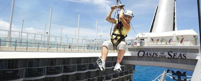 Royal Caribbean Cruises Zip Line on Ship