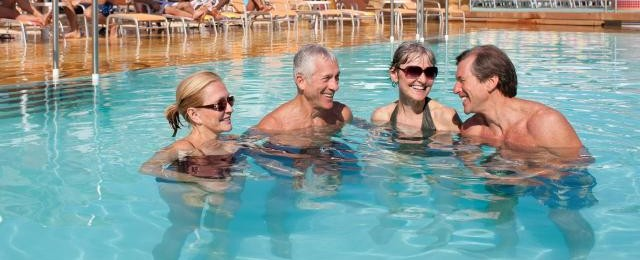 Royal Caribbean Cruises Family in Pool