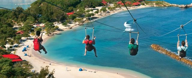 Royal Caribbean Cruises Zip Line in Labadee